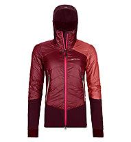 Ortovox Piz Palü - giacca ibrida sci alpinismo - donna, Dark Red