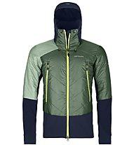 Ortovox Piz Palü - giacca ibrida sci alpinismo - uomo, Green