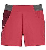 Ortovox Piz Selva Light - pantaloni corti trekking - donna, Red