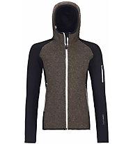 Ortovox Plus Classic Knit - giacca con cappuccio - donna, Black/Brown