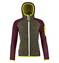 Ortovox Plus Classic Knit - giacca con cappuccio - donna, Brown/Dark Red