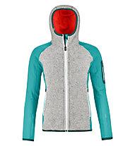 Ortovox Plus Classic Knit - giacca con cappuccio - donna, Grey/Light Blue