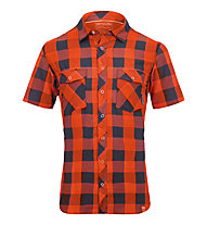 Ortovox Rock'n'Wool Cool Camicia a manica corta trekking, Crazy Orange
