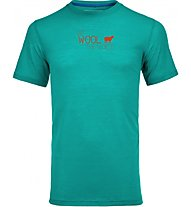 Ortovox 150 Merino Cool World Print T-Shirt trekking, Light Blue