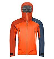 Ortovox Westalpen 3L Light - giacca hardshell - uomo, Orange/Blue