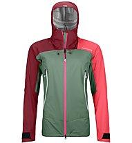Ortovox Westalpen 3L Light - giacca hardshell - donna, Green/Red