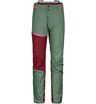 Ortovox Westalpen 3L Light - pantaloni alpinismo - donna, Green/Red