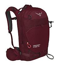 Osprey Kresta 20 - zaino freeride/scialpinismo, Dark Red