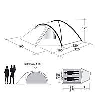 Outwell Cloud 2 - tenda campeggio, Blue