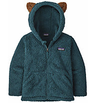 Patagonia B Furry Friends - giacca in pile - bambino, Dark Green/Brown