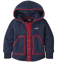 Patagonia B Retro Pile - giacca in pile - bambino, Blue/Red
