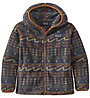 Patagonia B Synchilla Cardigan - felpa in pile - bambino, Blue/Orange