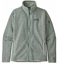 Patagonia Better Sweater - felpa in pile - donna, Light Green