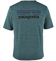 Patagonia Cap Cool Daily Graphic - T-Shirt Trekking - Herren, Dark Green