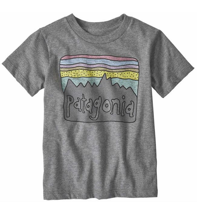 Patagonia Fitz Roy Skies Organic Cotton - T-Shirt - Kinder, Grey