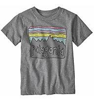 Patagonia Fitz Roy Skies Organic Cotton - T-shirt - bambino, Grey