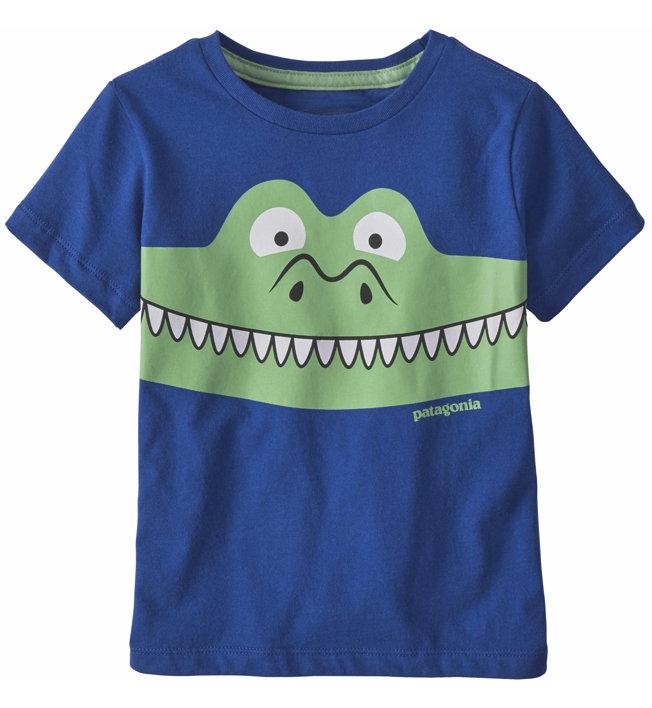 Patagonia Graphic Organic Cotton - T-Shirt - Kinder, Light Blue