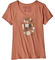 Patagonia Harvest Haul Organic V-Neck - T-Shirt Kurzarm - Damen, Light Red