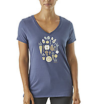 Patagonia Harvest Haul Organic V-Neck - T-Shirt Kurzarm - Damen, Blue