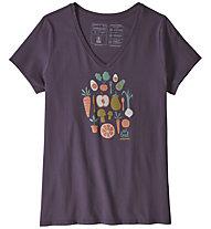 Patagonia Harvest Haul Organic - T-shirt trekking - donna, Violet