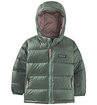 Patagonia Hi-Loft Down Sweater Hoody - giacca in piuma - bambino, Green/Pink