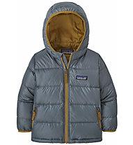 Patagonia Hi-Loft Down Sweater Hoody - Daunenjacke- Kinder, Grey/Dark Yellow