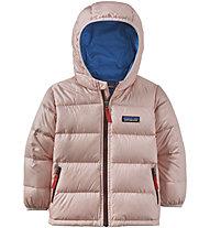 Patagonia Hi-Loft Down Sweater Hoody - giacca in piuma - bambino, Pink/Blue