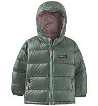 Patagonia Hi-Loft Down Sweater Hoody - Daunenjacke- Kinder, Green/Pink