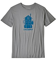 Patagonia Live Simply Home - T-Shirt - Herren, Grey