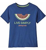 Patagonia Live Simply® Organic Cotton - T-shirt - Kinder, Blue