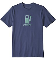 Patagonia Live Simply Power Responsibili - T-Shirt Trekking - Herren, Blue