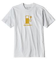 Patagonia Live Simply Power Responsibili - T-Shirt Trekking - Herren, White