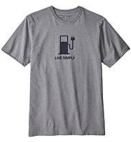 Patagonia Live Simply Power Responsibili - T-Shirt Trekking - Herren, Grey
