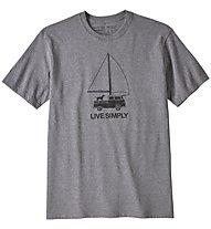 Patagonia Live Simply Wind Powered Responsibili-Tee - T-Shirt - Herren, Grey