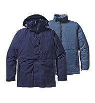Patagonia 3 in 1 Snowshot Giacca doppia scialpinismo, Classic Navy/Glass Blue