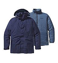 Patagonia 3 in 1 Snowshot - Giacca con cappuccio scialpinismo - uomo, Blue