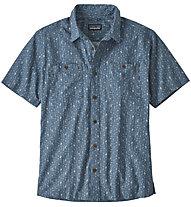 Patagonia Back Step - camicia a maniche corte - uomo, Light Blue