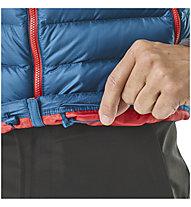 Patagonia Down Sweater - Daunenweste Wandern - Herren, Blue/Red