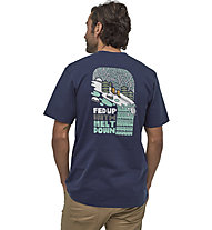 Patagonia Fed Up With Melt down Responsibili - T-Shirt Klettern - Herren, Blue