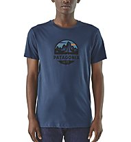 Patagonia Fitz Roy Scope Organic - T-Shirt Kurzarm - Herren, Blue