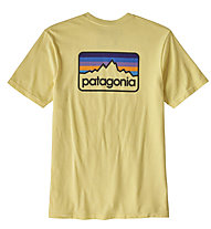 Patagonia Line Logo Badge - T-Shirt Bergsport - Herren, Yellow