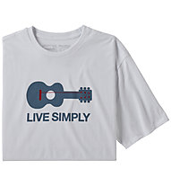 Patagonia Live Simply® Guitar Responsibili-Tee®- T-shirt - uomo, White