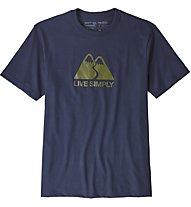 Patagonia Live Simply Winding - T-Shirt Bergsport - Herren, Blue