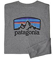 Patagonia Fitz Roy Horizons Responsibili-Tee® - Langarmshirt - Herren, Grey