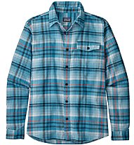 Patagonia Lightweigt Fjord Flannel - camicia a maniche lunghe - uomo, Light Blue