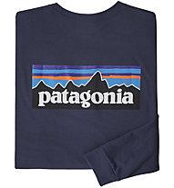 Patagonia P-6 Logo Responsibili-Tee® - Herren-Langarmshirt, Dark Blue