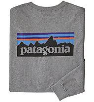 Patagonia P-6 Logo Responsibili-Tee® - Herren-Langarmshirt, Grey