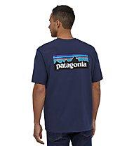 Patagonia M´s P-6 Logo Responsibili-Tee® - T-Shirt - Herren, Dark Blue