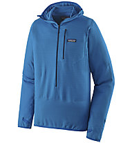 Patagonia R1 Fleece Pullover Hoody - felpa - uomo, Light Blue