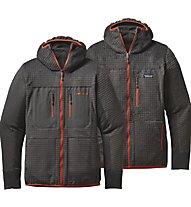 Patagonia M'S R3 Hoody Giacca con cappuccio escursionismo, Grey